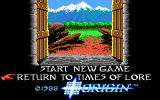 Times of Lore DOS Title screen 2