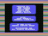 Howard the Duck MSX Credits screen