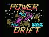 Power Drift MSX Title screen