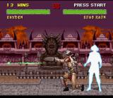 Mortal Kombat II SNES In a risky (and successful) movement, Rayden escapes Shao Kahn's Light Arrow using his teleport.
