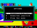 Bounder ZX Spectrum Control options