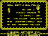 Attack of the Killer Tomatoes ZX Spectrum Game over
