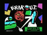 Krakout MSX Loading screen