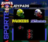Madden NFL 98 Genesis The standard EA sports controller selection