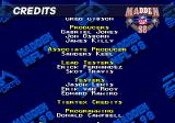 Madden NFL 98 Genesis Part of the credits