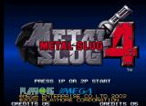 Metal Slug 4 Neo Geo Title screen.