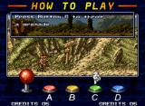 "Metal Slug 4 Neo Geo ""How To Play"" screen: reviewing the classic-basic tips to be a good shooter."