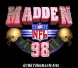 Madden NFL 98 SNES Title screen