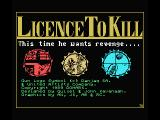 007: Licence to Kill MSX Title screen