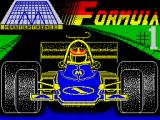 Formula 1 Simulator ZX Spectrum Loading screen