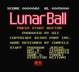 Lunar Pool NES Japanese title screen