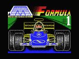 Formula 1 Simulator MSX Loading screen