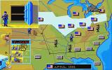 North & South Atari ST Riding a train earns cash. You receive a new army unit when the vault is full of money