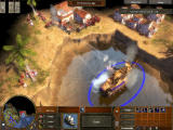 Age of Empires III Windows Bombarding enemy town.
