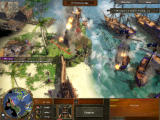 Age of Empires III Windows Destroying enemy naval base.