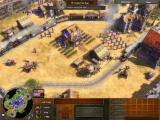 Age of Empires III Windows Upgrading to trains will enhance trade routes.