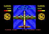 1943: The Battle of Midway Amstrad CPC Title screen