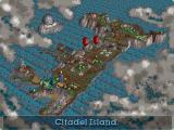 Twinsen's Odyssey DOS Map of Citadel Island. Pretty helpful, since locations tend to be quite large in this game