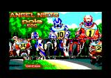 Angel Nieto Pole 500 Amstrad CPC Title screen.