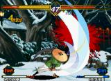 The Last Blade Neo Geo Zantetsu hits Yuki with the DM Toro Soujin: the final result of his super move is some bloody too...