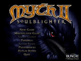 Myth II: Soulblighter Windows Main menu.