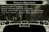 The Lord of the Rings: The Third Age Game Boy Advance Mission Objectives