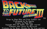 Back to the Future Part III Atari ST Title screen