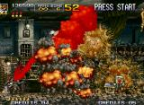 Metal Slug 4 Neo Geo Morphed in a zombie, your soldier can do a fatal blood attack instead of throw grenades: use wisely!