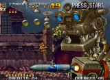 Metal Slug 4 Neo Geo Knock-out a giant robot that launches poison balls and ground rockets in attempt to clear Mission 4.