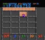 Lot Lot NES Select the section that is filled with balls and move your arrow to an emty section with a blinking edge.
