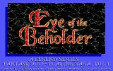 Eye of the Beholder DOS Title Screen (EGA)