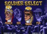 Metal Slug 5 Neo Geo In a theather background, four classic soldiers are available for your free choice...