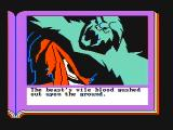 ZorkQuest: The Crystal of Doom PC Booter Evil creature defeated! (CGA with composite monitor)