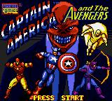 Captain America and the Avengers Game Gear Title screen