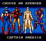 Captain America and the Avengers Game Gear Character selection