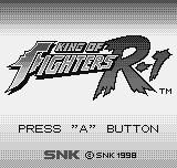 King of Fighters R-1 Neo Geo Pocket Title screen.