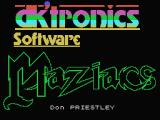 Maziacs MSX Title screen