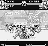 King of Fighters R-1 Neo Geo Pocket The first move of the fight against New Faces Team is made by Kyo, using his DM Orochinagi in Chris.