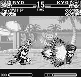 King of Fighters R-1 Neo Geo Pocket Kyo didn't perceived Ryo's SDM HaouShouKouKen on time and now are feeling the worst consequences...