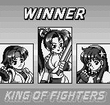 King of Fighters R-1 Neo Geo Pocket Victory screen.