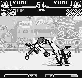 King of Fighters R-1 Neo Geo Pocket Yuri Sakazaki unleashes a well-aimed Rai Ou Ken in her alter-ego's head: what a migraine, man!