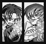 King of Fighters R-1 Neo Geo Pocket Introduction frame – Kyo Kusanagi and Iori Yagami comparing powers like the old time...