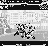 King of Fighters R-1 Neo Geo Pocket Using quickly the emergency escape move, Chris escapes successfully from Terry's Burn Knuckle.