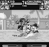 King of Fighters R-1 Neo Geo Pocket After using her illusionist move, Chizuru is counter-attacked by Kyo and his anti-air move Oni Yaki.