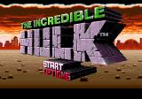 The Incredible Hulk Genesis Title screen
