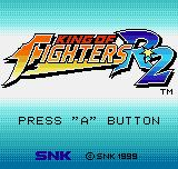 King of Fighters R-2 Neo Geo Pocket Color Title screen.