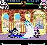 King of Fighters R-2 Neo Geo Pocket Color Taking advantage of the moment that Shermie is ducked and defenseless, Kasumi throws her Kasane Ate