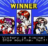 King of Fighters R-2 Neo Geo Pocket Color Victory screen.