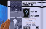 Advantage Tennis Atari ST Select a player to play