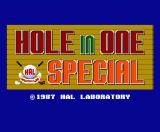 Hole in One Special MSX Title screen